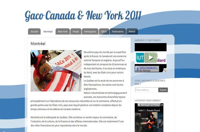 GACO Canada & New York 2011